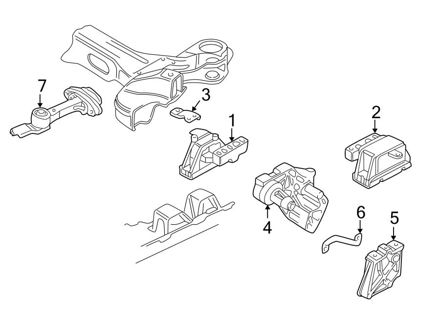 Volkswagen Jetta Manual Transmission Mount Bracket. LITER