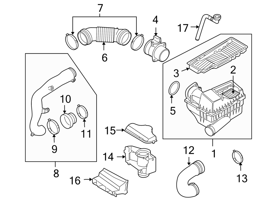 Volkswagen Jetta Connector pipe. Engine Air Intake Hose