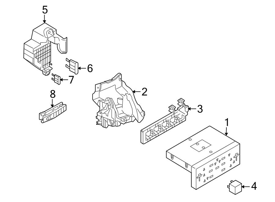 Volkswagen Eos Bracket. Module. Control. VIN, Passenger