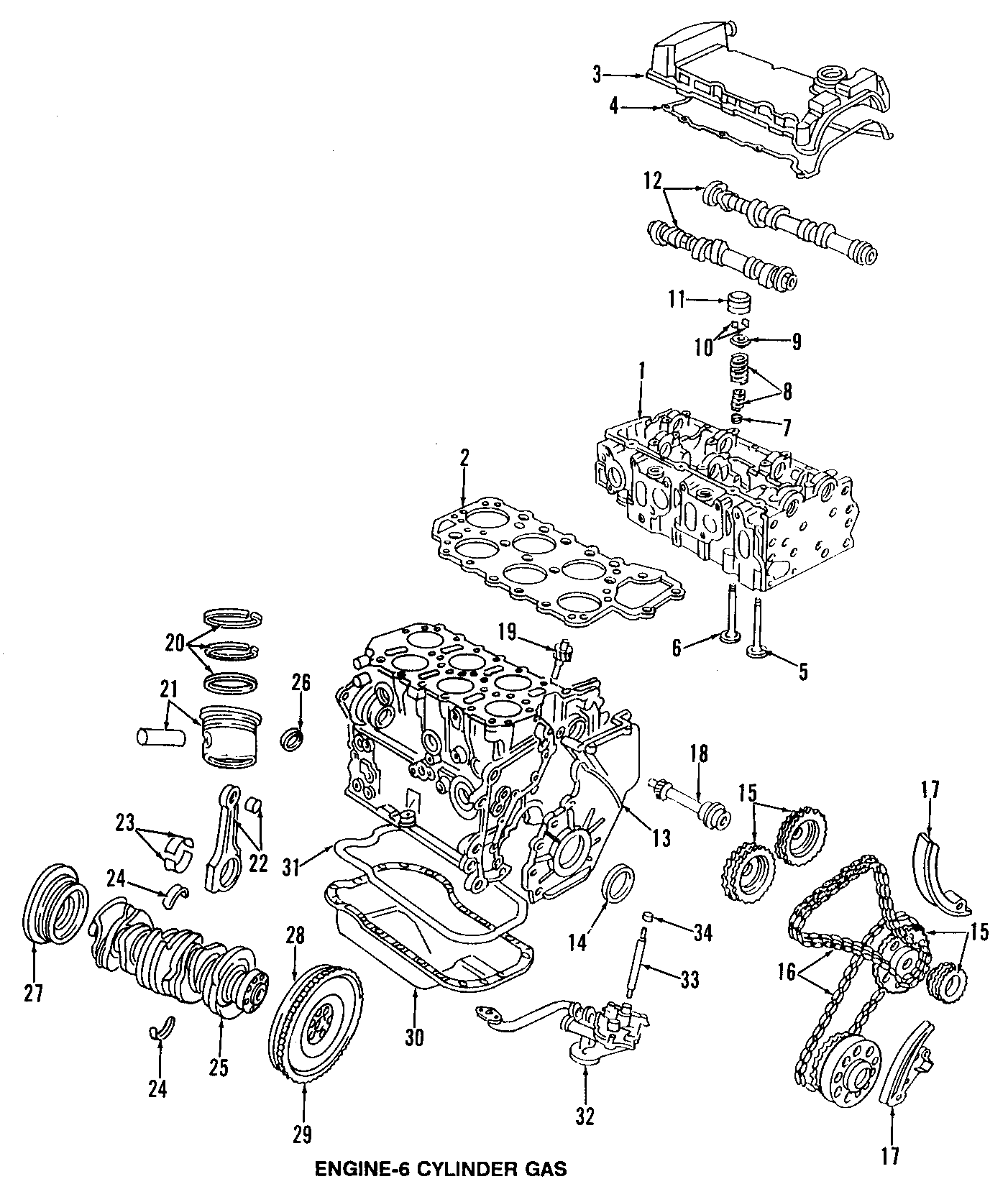 Volkswagen Jetta Engine Camshaft. Intake, VALVES, BEARINGS
