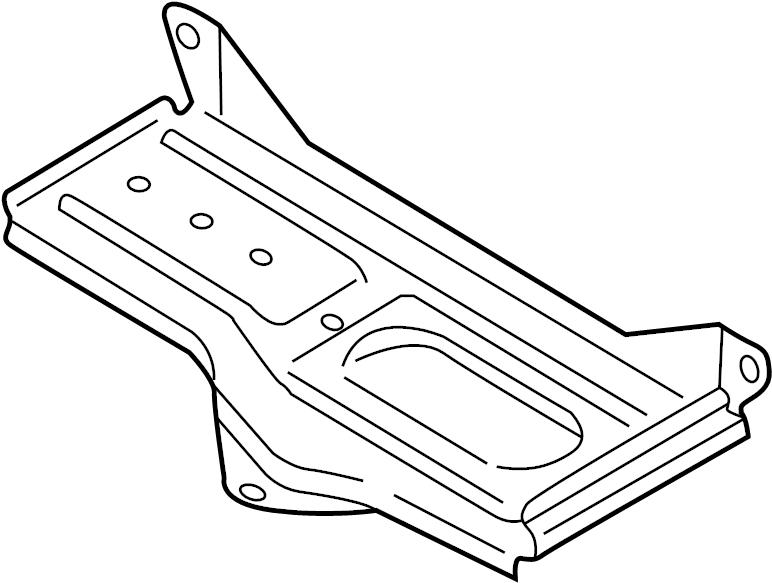 Volkswagen Passat Battery holder. Battery tray. BRACKET