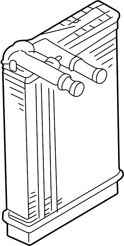 2001 Volkswagen Passat Hvac heater core. Heatercore. Hvac