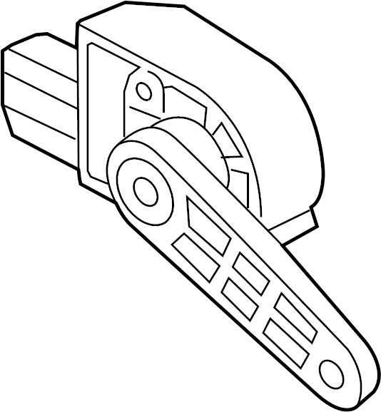 Volkswagen Tiguan Headlight Level Sensor (Rear