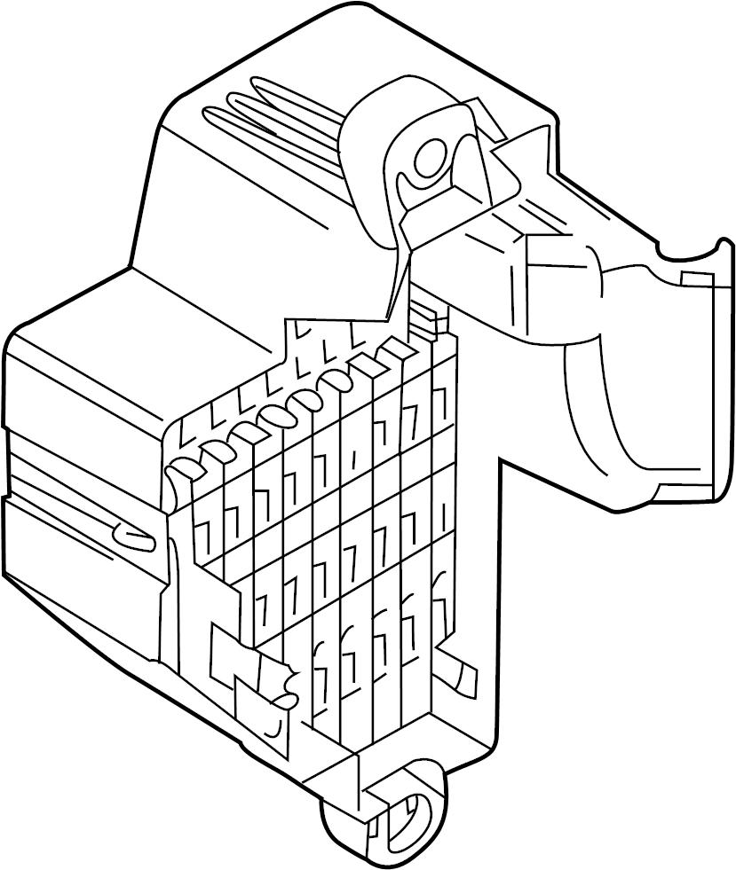 2009 Volkswagen GTI Fuse Box. PASSENGER, Compartment