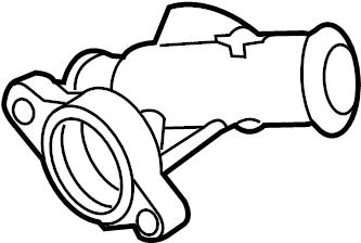 Volkswagen Jetta Engine Coolant Inlet Flange. Engine