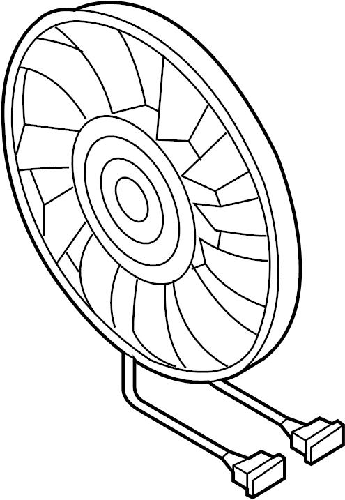 2014 Volkswagen Jetta Engine Cooling Fan Motor. Trans
