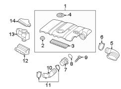 2014 Volkswagen Passat Air filter. Airfilter. Filter