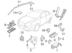 Volkswagen GTI Air Bag Wiring Harness. Wire harness
