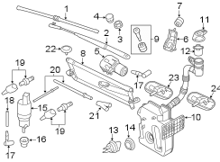 2014 Volkswagen Jetta Bearing. Windshield wiper linkage
