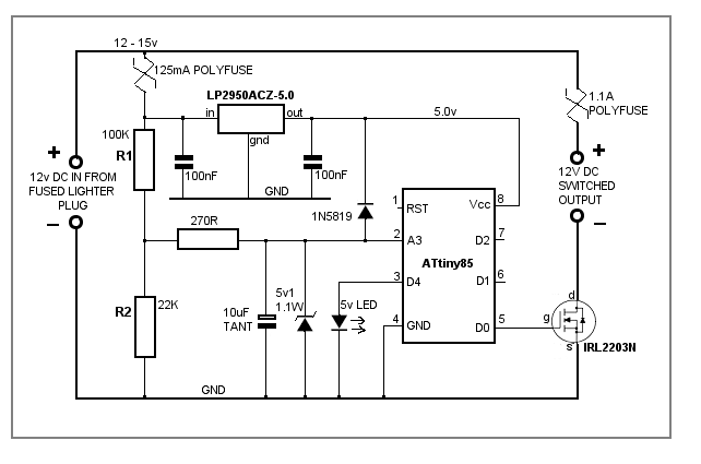 battery voltage monitor circuit