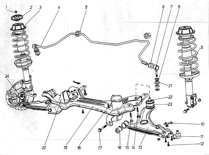 Устройство передней и задней подвески (Шасси / Подвеска