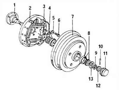 Подшипники задних колес (Шасси / Колеса и подвеска