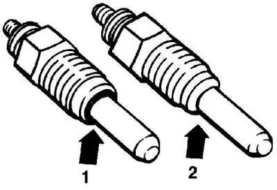Снятие и установка свечей накаливания (Силовой агрегат