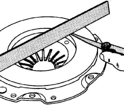 Проверка диска сцепления (Трансмиссия / Сцепление