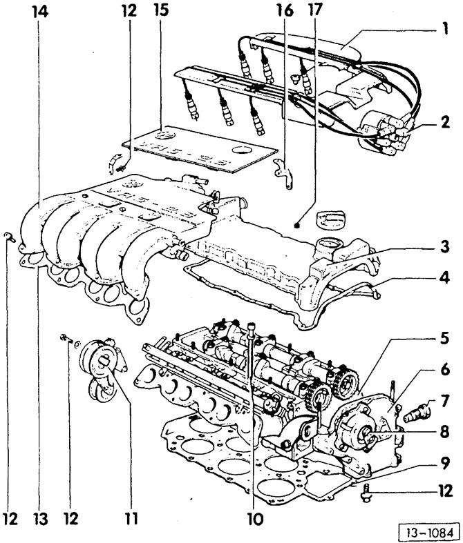 Снятие и установка головки цилиндров 6-цилиндровый
