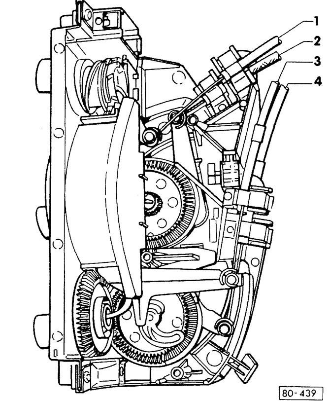 Снятие и установка / регулировка тяг системы отопления