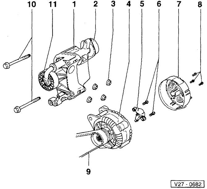 Снятие и установка генератора (Электрооборудование