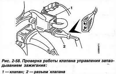 Проверка клапана управления запаздыванием зажигания (8