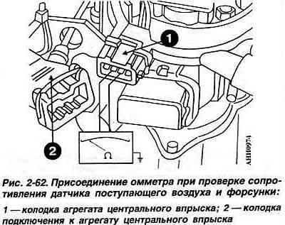 8-клапанный двигатель: Впрыск топлива «Mono-Jetronic