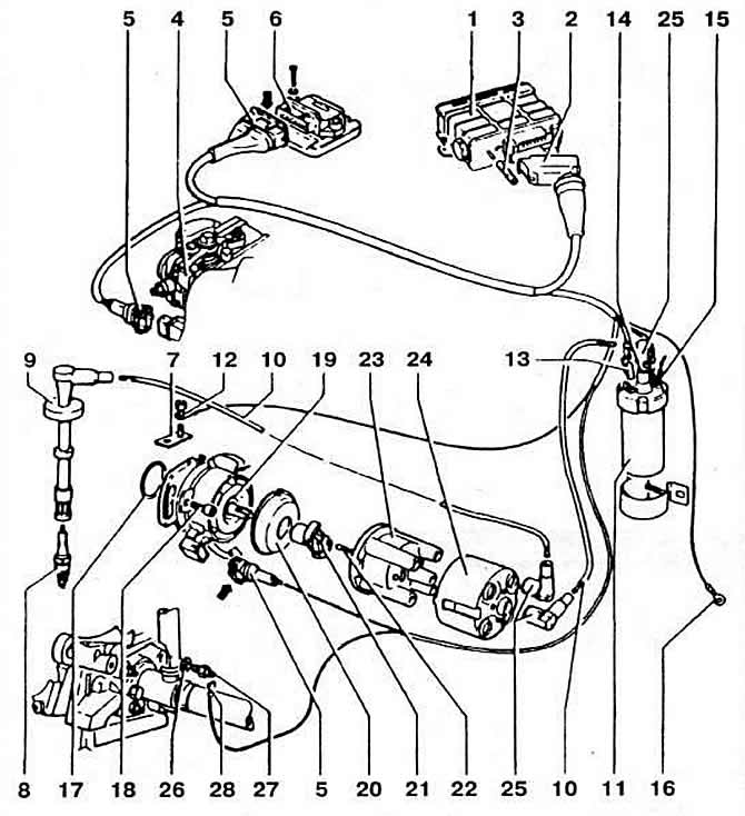 Система зажигания двигателя «KR» (16-клапанный двигатель