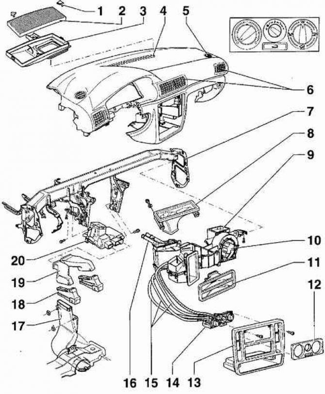Устройство системы отопления и вентиляции (Кузов