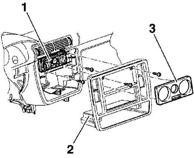 Панель управления отопителем (Кузов / Вентиляция и