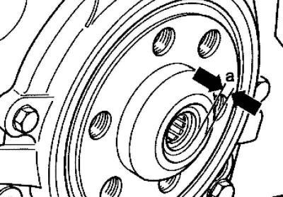 Снятие и запрессовка игольчатого подшипника маховика