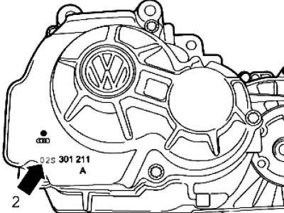 Маркировка коробки передач (Трансмиссия / Механическая