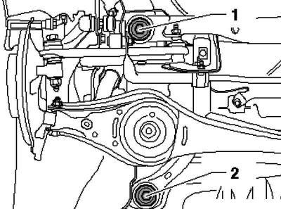 Ремонт заднего подрамника (Шасси / Подвеска автомобиля