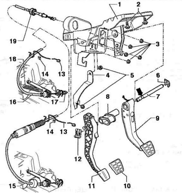 Привод сцепления (Трансмиссия / Механическая коробка 085