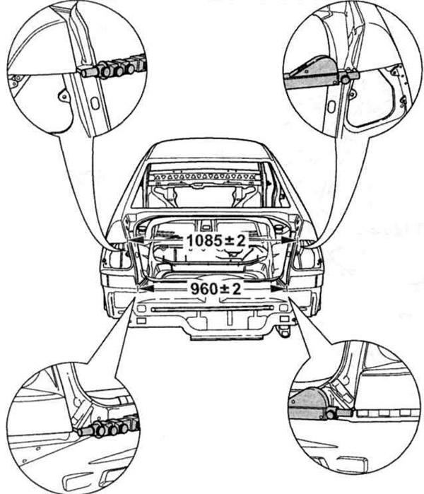 Кузовные размеры автомобилей (Кузов / Экстерьер