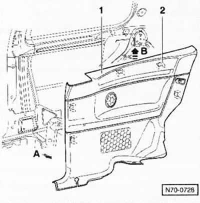 Снятие и установка задней боковой облицовки автомобилей