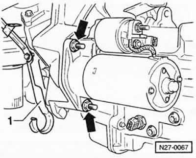 Снятие и установка стартера (Электрооборудование
