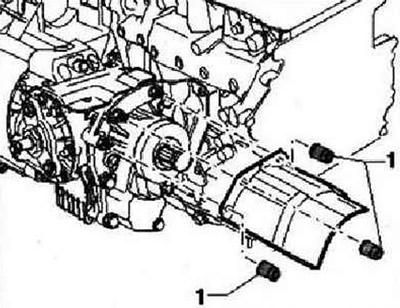 Снятие раздаточной коробки (а/м с дизельным двигателем с