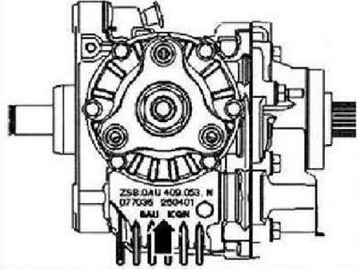 Маркировка на коробке передач (Трансмиссия / 6-ступенчатая