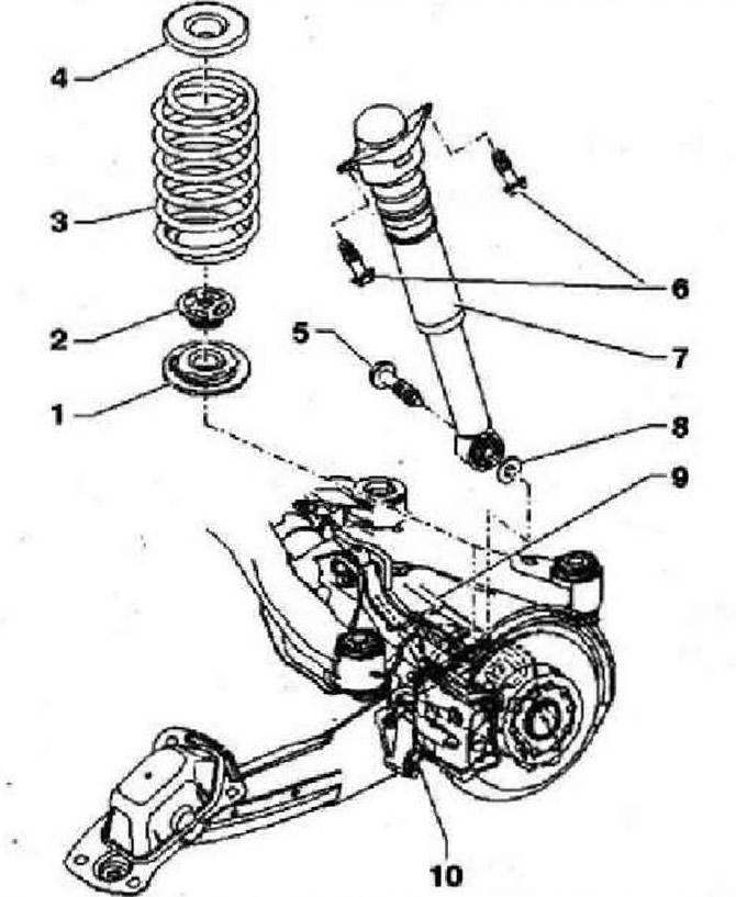Амортизатор и витая пружина (Шасси / Задняя подвеска (4х4