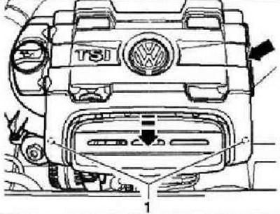 Снятие и установка генератора (1,4 л двигатель TSI