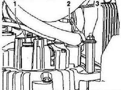 Снятие и установка генератора (2,0 л двигатель TDI