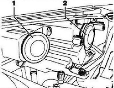 Замена лампы фары ближнего света (Электрооборудование
