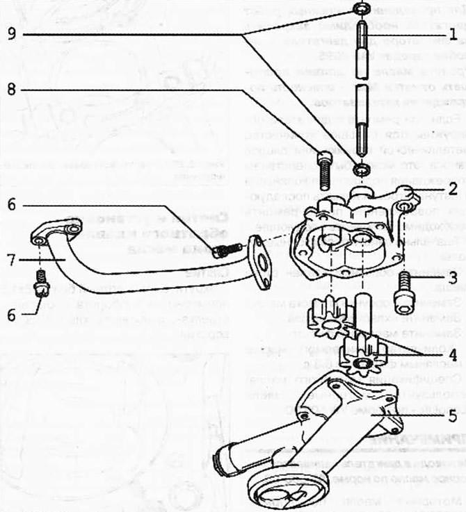 Разборка и сборка масляного насоса (бензиновый двиг