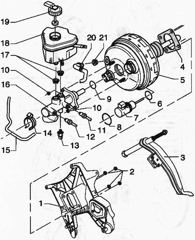 Снятие и установка потенциометра хода мембраны усилителя