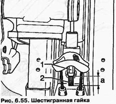 Снятие и установка задних тормозных тросов (Шасси