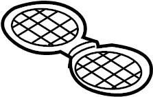 2015 Volkswagen Beetle Console Mat. BODY, COMPONENTS