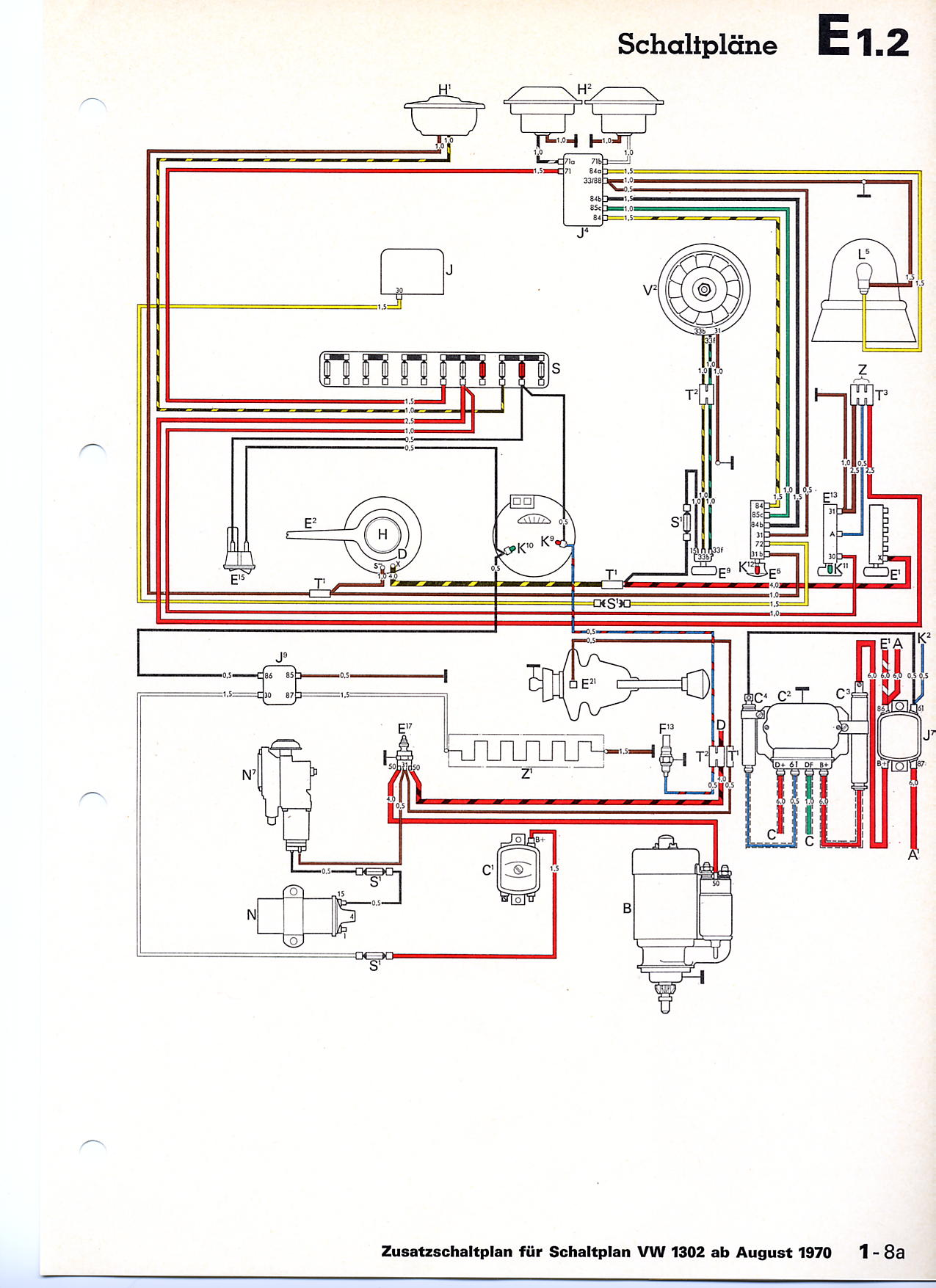vw beetle wiring diagram 1966 rectifier regulator vwtyp1.com