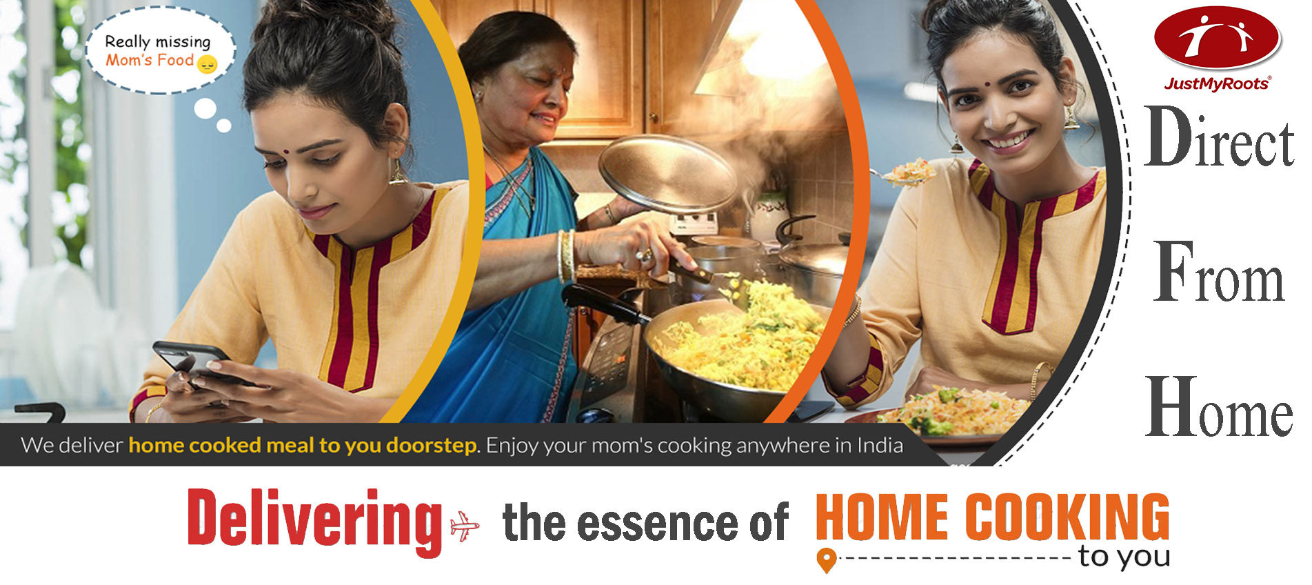 JustMyRoots, the Food tech platform has been providing DFH service wherein they deliver food, cooked in your Mom's Kitchen, to you - Vyapaarjagat