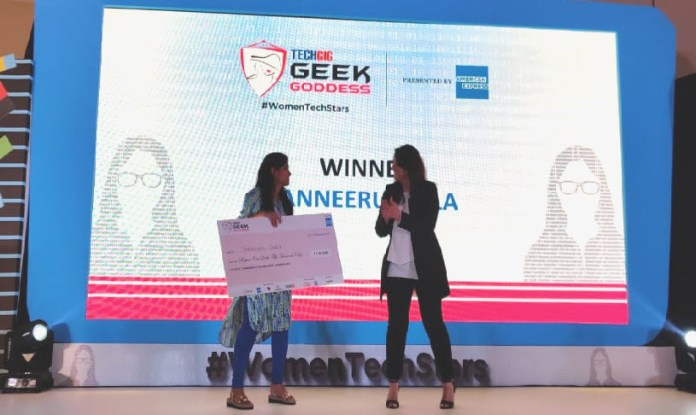 Tanneeru Leela_Winner of TechGig Geek Goddess 2019