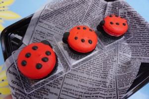 Ladybug macarons
