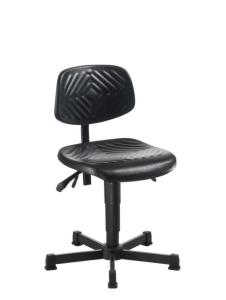504710 Werkplaatsstoel,  standaardzitting zwart