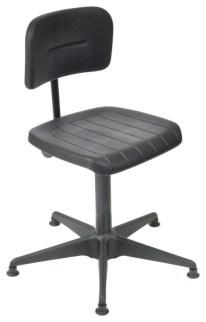 110596 Werkplaatsstoel,  standaardzitting zwart