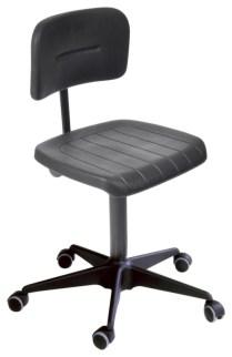 110621 Werkplaatsstoel,  standaardzitting zwart